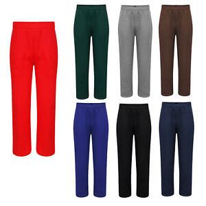COLOUR  maroon Boys Girls Kids School PE Fleece Jogging Track Bottoms Trousers