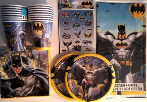 Birthday Party Supply Pack Kit 16 w// 80 Stickers FREE Ship ! BATMAN