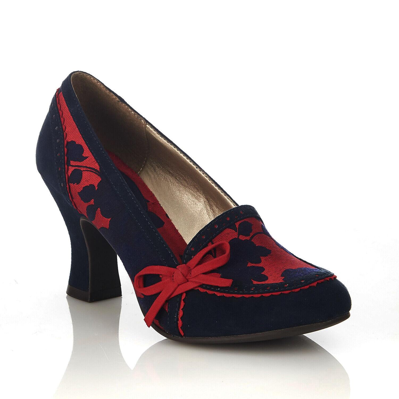 Ruby Shoo June Noir Womens Mid Heels Shoes