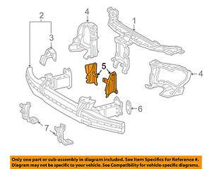 For Mercedes Genuine Radiator Support Air Deflector Left 2156280198