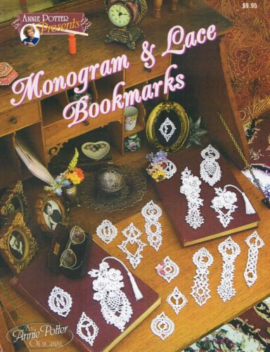 """Crochet bookmark pattern /""""Monograms and Lace Bookmarks/"""""""
