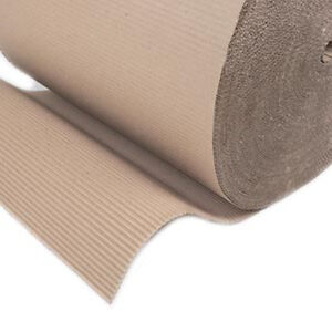 """2x Corrugated Cardboard Paper Rolls 300mm (12"""") x75m Protective Packing Wrapping 3642420754230"""
