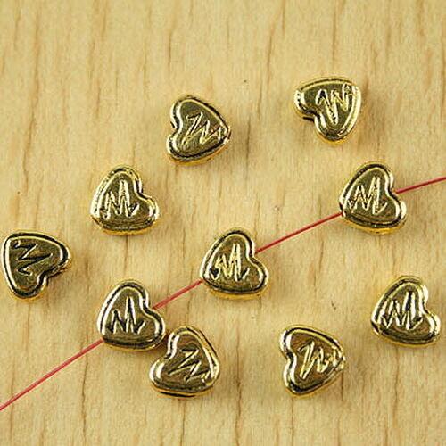 40pcs dark gold-tone long tube spacer beads h2351