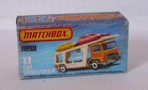 Repro Box Matchbox Superfast Nr.11 Car Transporter