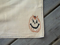 Primitive Country Fall Halloween Pumpkin Placemat 14 X 21 Table Mat (one)