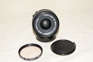 CANON-FDn-FD-NEW-28mm-1-2-8-LENS-WITH-FILTER-NEAR-MINT-8075