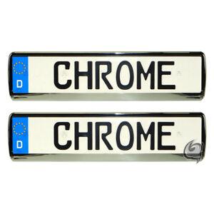 2x Chrom Kennzeichenhalter Kennzeichenrahmen BMW 7er E32+E38 1986-2001 Tuning
