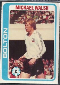 TOPPS-FOOTBALL (PALE BLUE BACK 1979)-#116- BOLTON - MICHAEL WALSH