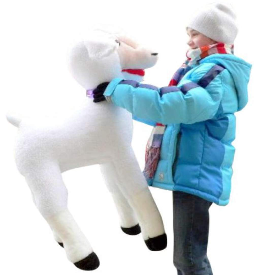 American Made Giant Stuffed Sheep 34 Inches Soft Plush Lamb Made in USA