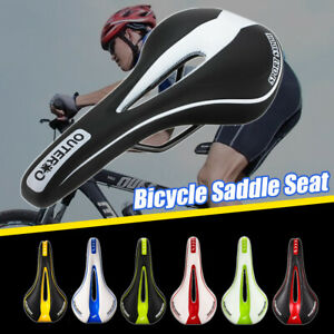 Road-Mountain-MTB-Comfort-Hollow-Saddle-Bike-Bicycle-Cycling-Seat-Cushion-Pad
