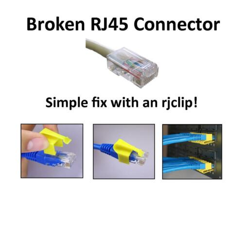 RJCLIP Broken RJ45 fix repair CAT5 CAT5e CAT6 connectors 5 PCS SILVER Color