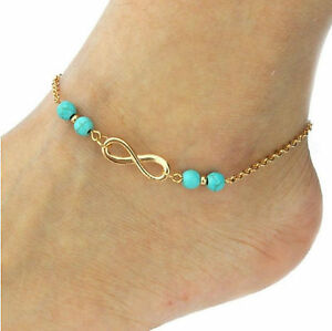 crystal dainty clear chain ab gold bracelet swarovski anklet ankle leg products
