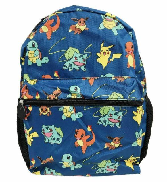 "Pokemon Pikachu Catch /'em All 16/"" Backpack Kids Boys School Book Bag Blue NEW"
