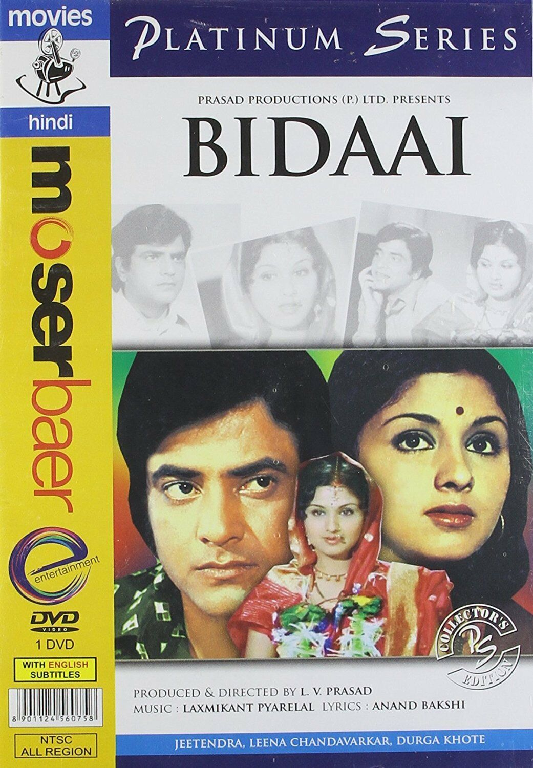 BIDAAI (1974) JEETENDRA, LEENA CHANDAVARKAR ~ BOLLYWOOD HINDI DVD
