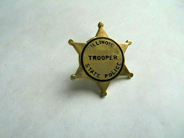 ILLINOIS STATE POLICE TROOPER OFFICER  LAPEL BADGE PIN