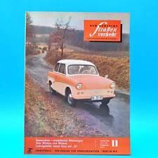Der Deutsche Straßenverkehr 11/1960 DDR Saporoshez Borgward Budapest Zelten G