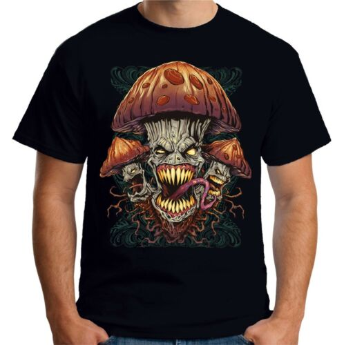 Velocitee Mens T-Shirt Evil Magic Mushroom W20369
