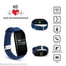 Diggro Smart Bracelet Bluetooth Heart Rate Pedometer Calorie Call/SMS For IOS LG