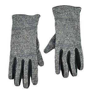 295-DOLCE-amp-GABBANA-gris-laine-noire-en-daim-Cuir-gants-Taille-M-Nouvelle-collection