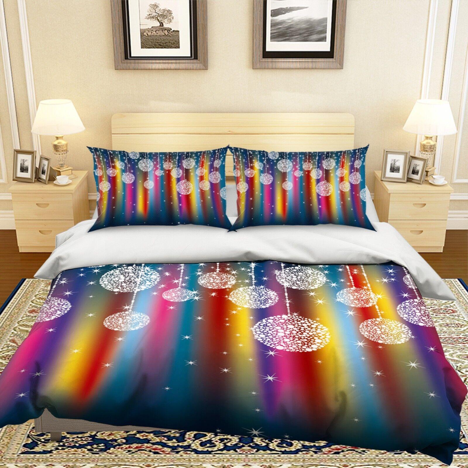 3D Christmas Xmas 505 Bed Pillowcases Quilt Duvet Cover Set Single Queen King AU