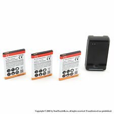 3 x 2600mah Battery for Samsung Galaxy Note SGH-i717 i9220 N7000 T879 Charger