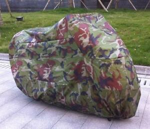 Motorcycle Camouflage Outdoor Storage Cover fit for Yamaha Honda Kawasaki Suzuki