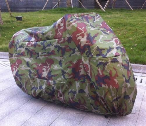Motorcycle Camouflage Outdoor Storage Cover fit for Yamaha Honda Kawasaki Suzuki