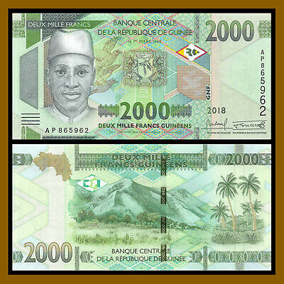 2012 Guinea 500 Francs P-39 UNC
