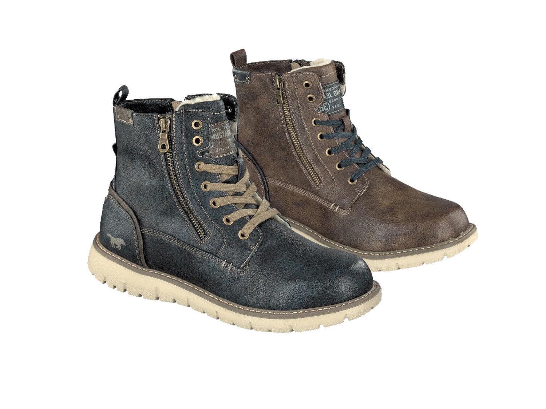Mustang 4107-605 Schuhe Herren Stiefel Stiefelette Stiefel Warmfutter
