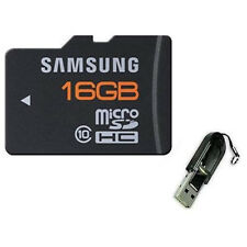 Samsung 16GB Micro SD MicroSDHC Class 10 TF Flash Memory Card Plus USB Reader