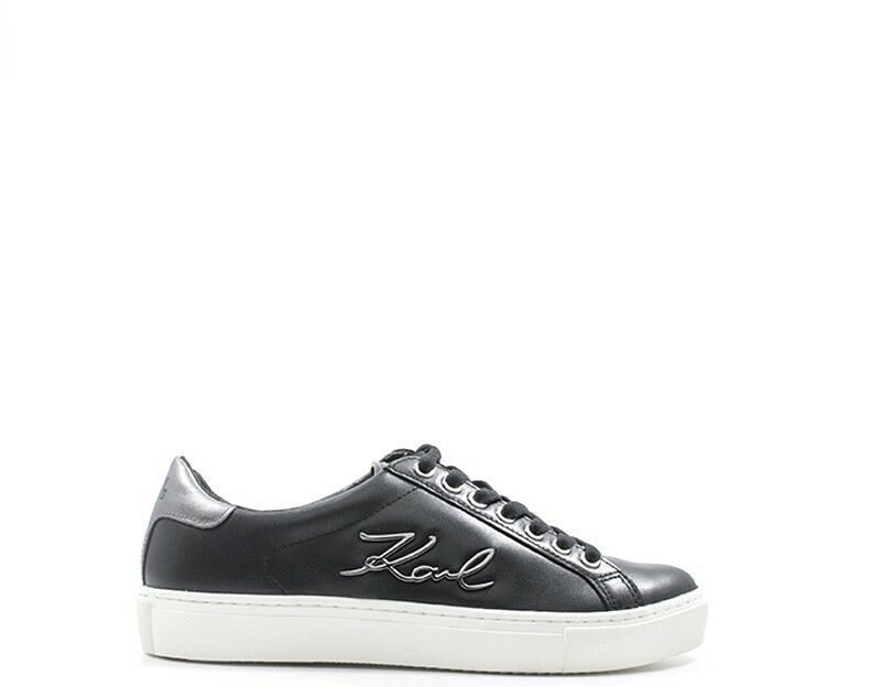 chaussures KARL LAGERFELD femmes baskets TRENDY  noir Pelle naturale KL61010-007