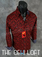 Mens rodeo Brand Snap-up Shirt Black With Red Paisley's Roar With Class