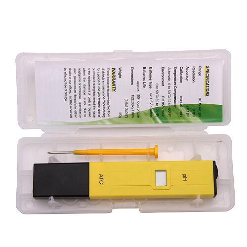 Portable LCD PH Meter Measure Measurement Tester Pocket Pen Test for Aquarium