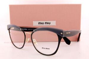 6d214465f8b Brand New Miu Miu Eyeglass Frames MU 54QV 1AB Black For Women Size ...
