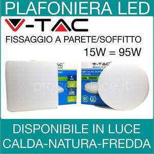PLAFONIERA-15W-V-TAC-FARETTO-FARO-LED-ROTONDO-o-QUADRATO-PER-ESTERNO-VT-8033