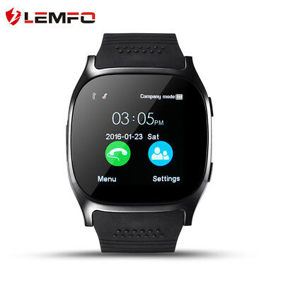 Lemfo T8 SIM TF Card Bluetooth Teléfono Reloj Inteligente Podómetro para Android