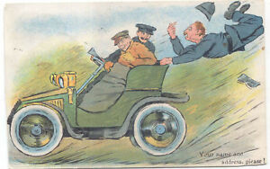 Veteran-Speeding-car-and-Policeman-hanging-on-Marcus-Ward-Series-88