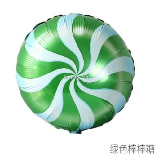 18 inch Swirl Candy Lollipop wedding party birthday Helium foil Balloon 9 colour