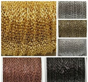 5m-Silver-Golden-Plated-Cable-Open-Link-Iron-Metal-Chain-Findings
