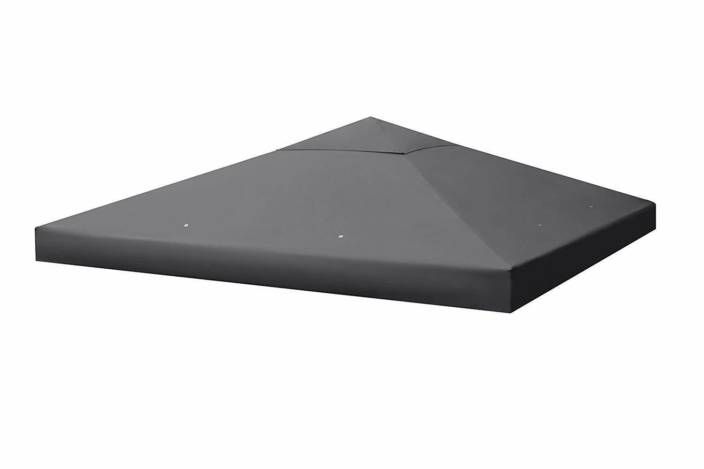 Sekey Canopée toile pour Tonnelle Tente de Jardin Revêtement étanche grise 3x3 M