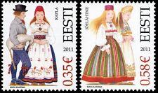 Stamp SET of ESTONIA 2011 -  Estonian Folk costumes – Rapla & Joelahtme