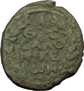 Trajan-98AD-Thessalonica-in-Macedonia-Ancient-Roman-Coin-Wreath-Rare-i36892