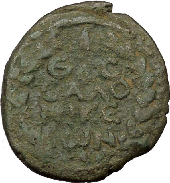 Trajan 98AD Thessalonica in Macedonia Ancient Roman Coin Wreath Rare   i36892