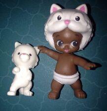 TWOZIES SEASON 2~RARE Boy WHITE CAT Baby CLAUDE & KITTY Pet CLYDE