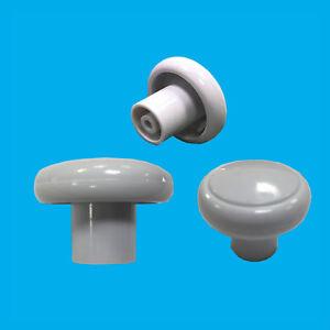 12x 32mm Plastique Blanc Armoire Placard Tiroir Meuble Poignee De