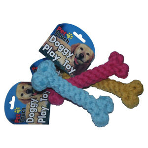 Puppy-Dog-Braided-Rope-Bone-Toy-Treats-Chew-Teeth-Clean