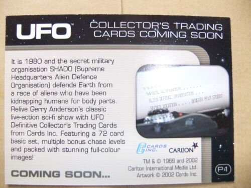 GERRY ANDERSON UFO CARDS INC PROMO CARD P1 SHADO HQ ED BISHOP GABRIELLE DRAKE
