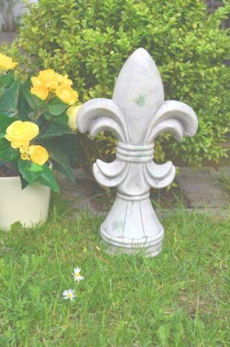 Lilie Keramik Skulptur grau Gartenskulptur Gartenfigur Gartendekoration Deko 36c