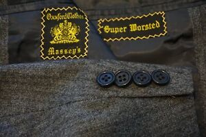Oxxford-Clothes-Onwentsia-Gray-Herringbone-Flannel-Super-Worsted-2-Pc-Suit-44L