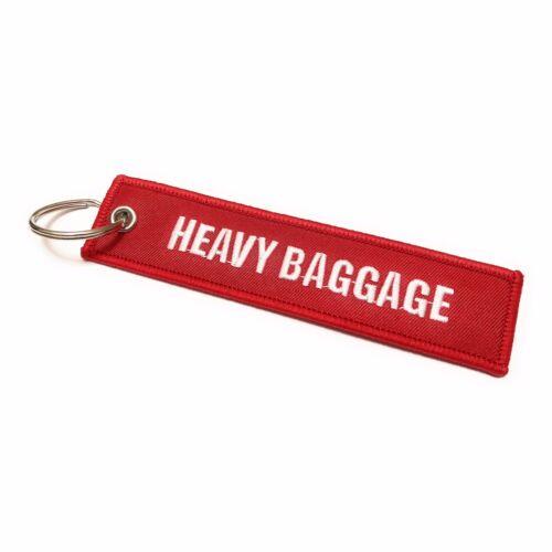 Lourd Bagages//Poignée Avec Soin Étiquette de Bagage Porte-Clé Rouge//Blanc
